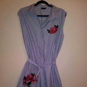 Sleeveless button up shirt dress or duster - 3x